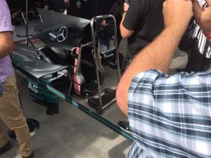 Grix Sunglasses visits Mercedes pits at Melbourne Grand Prix